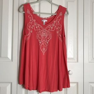 Dress Barn coral sleeveless tunic SZ 2X